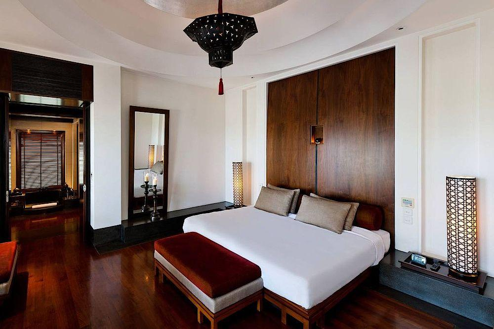 Luxusschlafzimmer, The Chedi Muscat, Oman Rundreise
