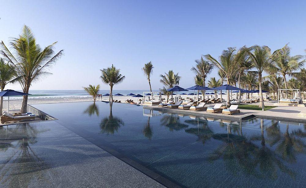 Poolanlage, Al Baleed Resort Salalah Resort, Oman Rundreise