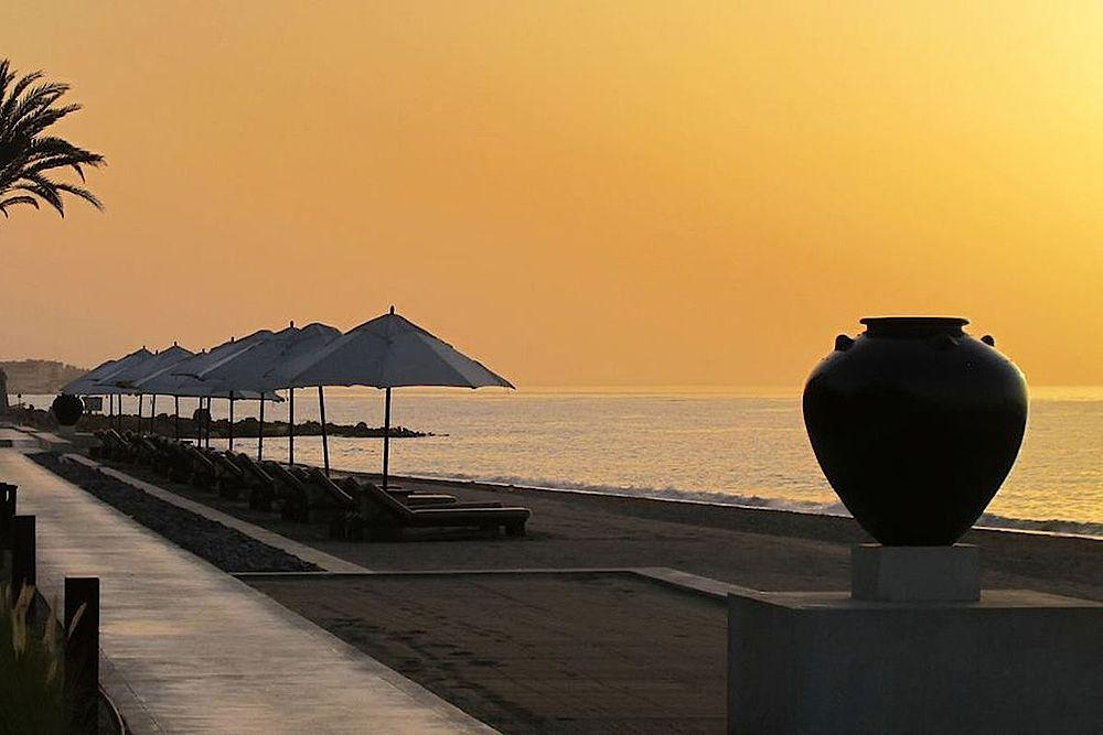 Privater Strand, The Chedi Muscat, Oman Rundreise
